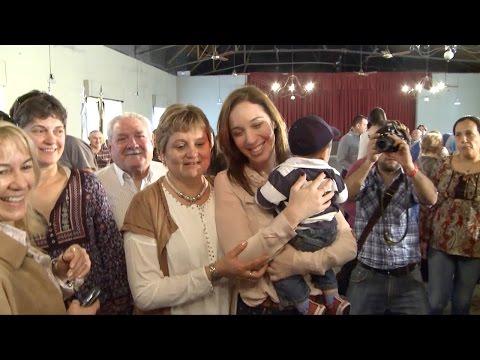 María Eugenia Vidal visitó los partidos de Adolfo Alsina, Pellegrini y Salliqueló
