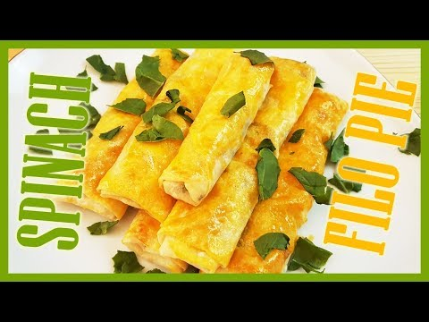 How To Make Spinach And Cottage Cheese Filo Pastry | Spinach Cheese Pie Recipe