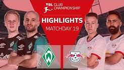SV Werder Bremen - RB Leipzig | Highlights - 19. Spieltag | VBL Club Championship 2019/20