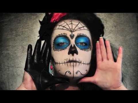 sc 1 st  YouTube & Sandra Col Make Up | LA SANTA MUERTE | by Federica Ph - YouTube