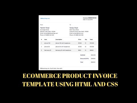 Ecommerce Product Invoice Template Using Html And Css(Source Code)
