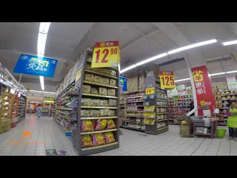 Shopping for groceries in Wuhan | Spanish Streets of Wuhan | Walking in Guanggu