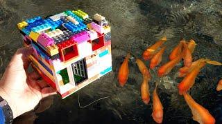DIY LEGO FISH TRAP catches COLORFUL fish!