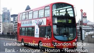 london bus routes 11-30 (pictures)