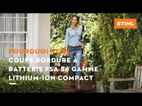 coupe bordure batterie fsa 56 gamme lithium ion compact stihl youtube. Black Bedroom Furniture Sets. Home Design Ideas
