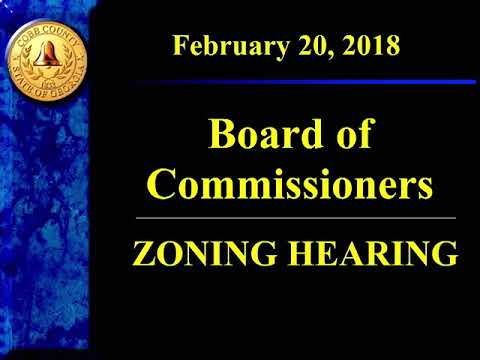 Cobb County Board of Commissioners Zoning - 02/20/2018