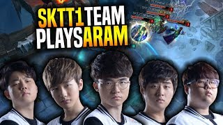 SKT T1 Team Plays ARAM! - Faker, Peanut, Bang, Huni, Wolf, Untara, Blank & Sky Playing ARAM!