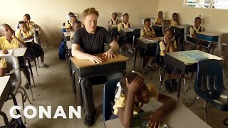 #ConanHaiti Preview: Conan Goes To Elementary School  - CONAN on TBS