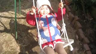ブランコ大きくこいで handmade swing