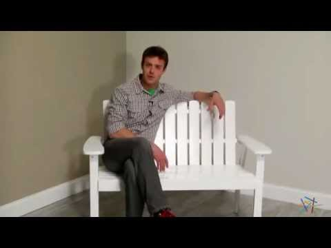 Shoreline Adirondack Bench - White - Product Review Video