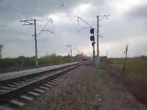 ЭР2-515 На Перегоне Новосибирск-Западный-Обь Видео 19 мая 2008