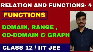 RELATIONS AND FUNCTIONS 4- | FUNCTIONS | INTRODUCTION | DOMAIN| RANGE| CO-DOMAIN| CLASS 12| IIT JEE| thumbnail