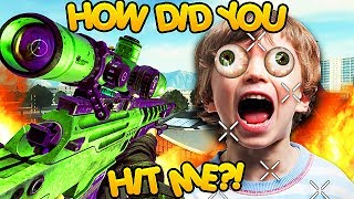 TROLLING KIDS ONLINE WITH AIMBOT TRICKSHOTS! (Black Ops 2 Mods)