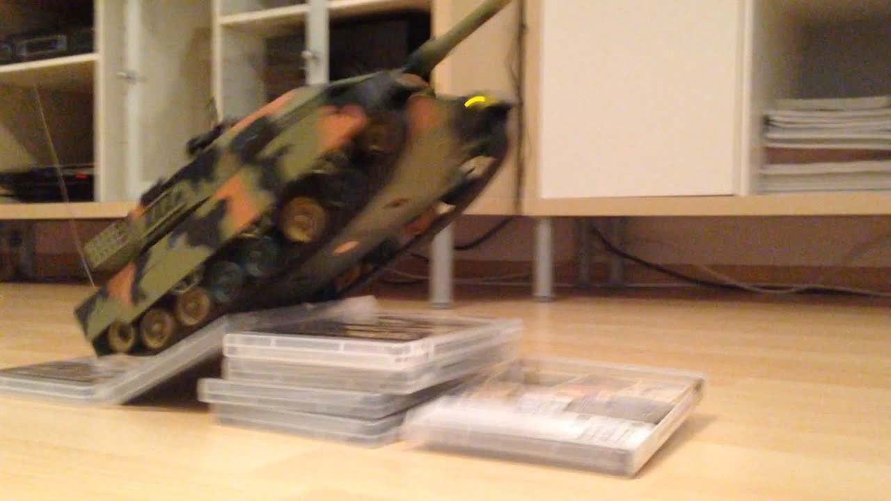 RC Battle Tank Action Video With Remote Controlled Leopard Panzer Scale  Model   YouTube