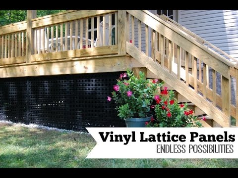 Vinyl Lattice Panels Endless Possibilities Youtube