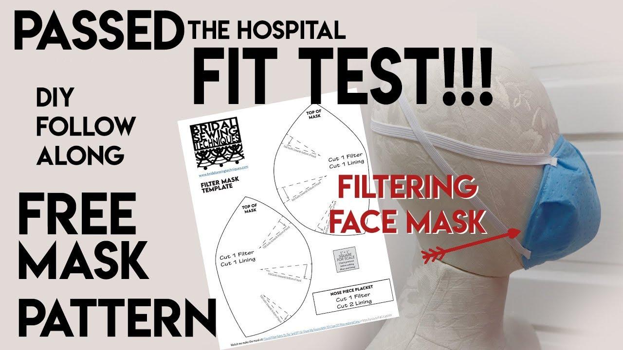 How to make filter face mask,  N95 mask shortage, free pattern, DIY sew tutorial making, Filter mask