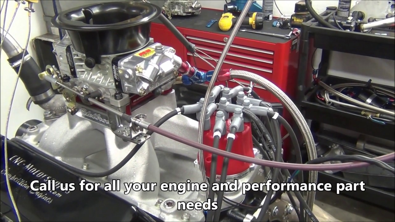 675+ Horsepower Pump Gas SB Chevy 427 Crate Engine by CNC-Motorsports