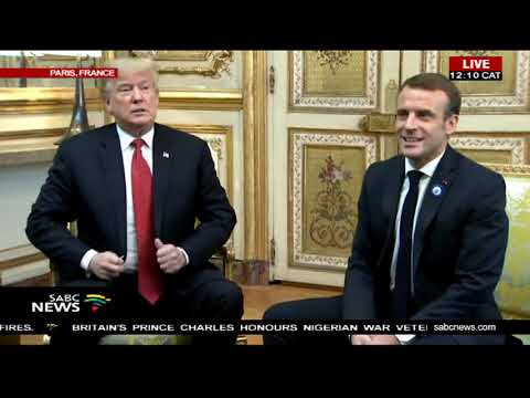 Trump meets Macron in France