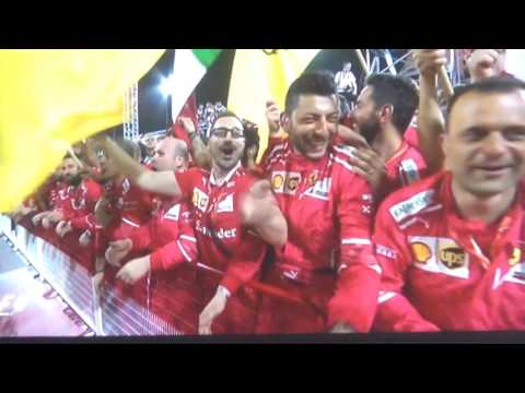 Formel 1 Bahrain Siegerehrung 2017