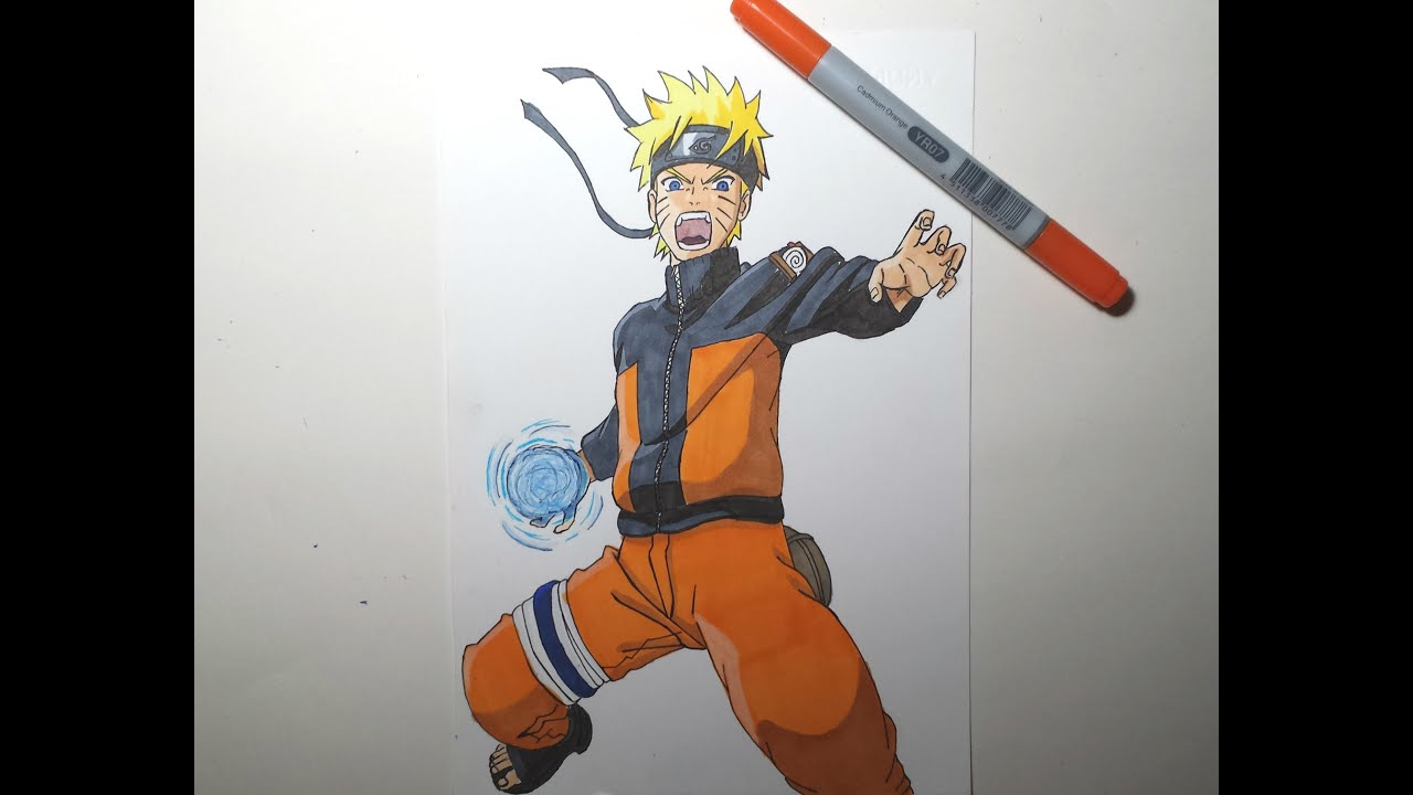 Speed Drawing Naruto Rasengan (HD) ナルト螺旋丸 - YouTube
