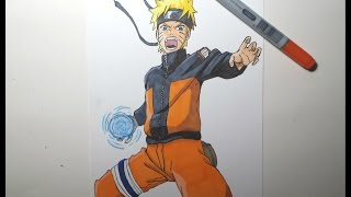 Speed Drawing Naruto Rasengan (HD) ナルト螺旋丸