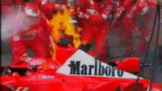 Michael Schumacher Pit Stop Fire