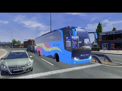 ETS2 Mod Bus Pariwisata Bluestar (Bus Mod dengan Livery ala Indonesia)