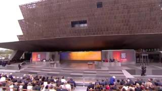 Stevie Wonder performing at the National Museum Of African American Culture & History Opening