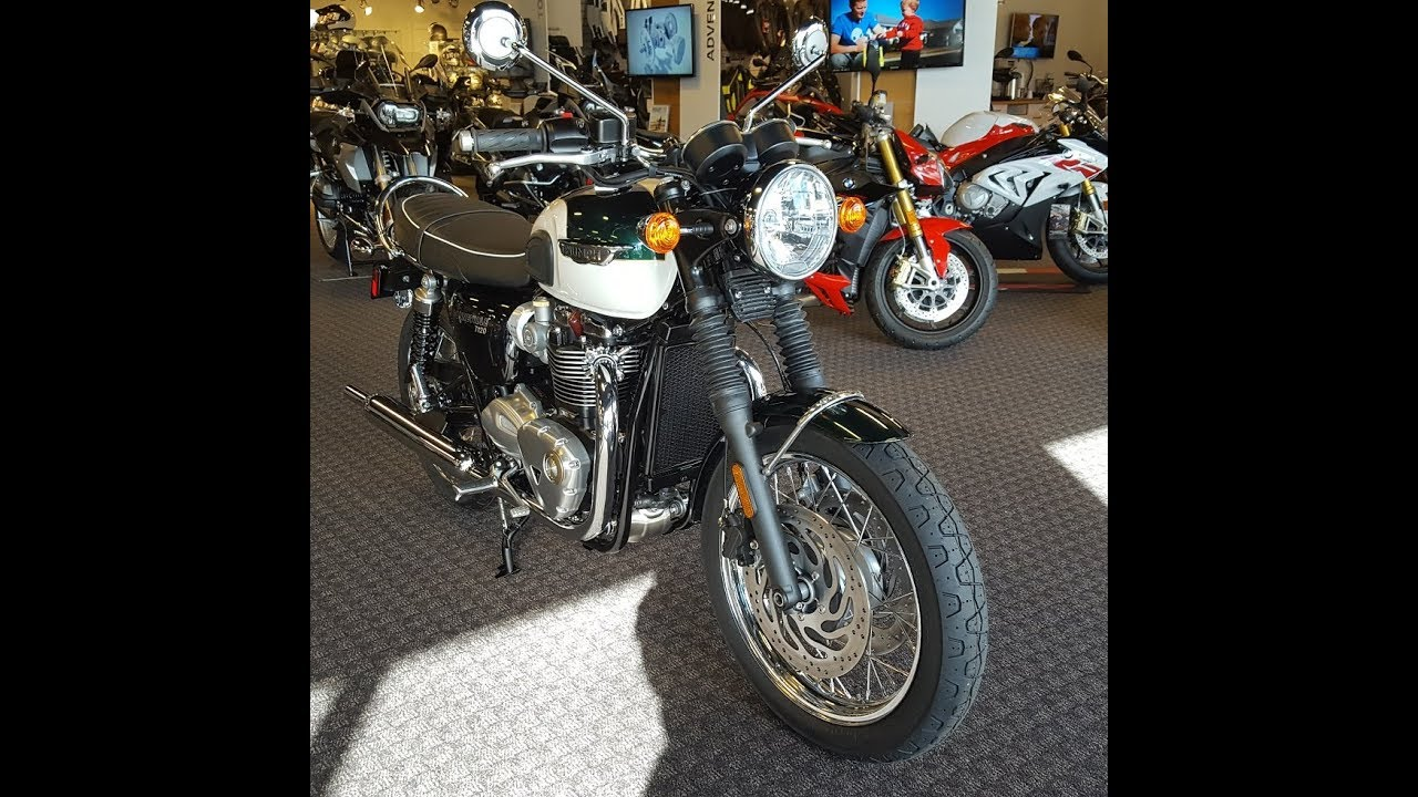 2018 Triumph Bonneville T120 In Competition Green Fusion White