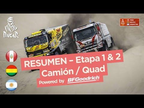 Resumen - Camiones/Cuadriciclos/SxS - Etapa 2 (Pisco / Pisco) - Dakar 2018