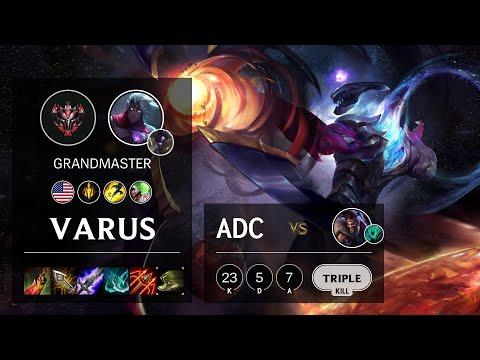 Varus ADC vs Draven - NA Grandmaster Patch 10.21