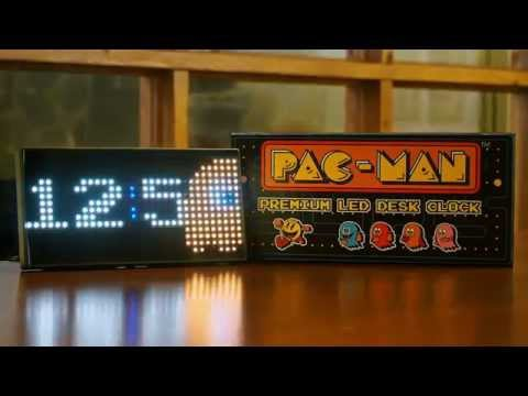 Pac Man Premium Led Desk Clock Youtube
