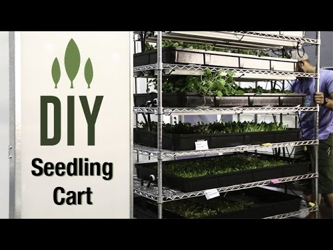 DIY Seedling Cart With Flood Trays - Small Version