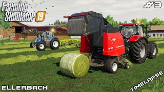 Mowing,windrowing & baling hay bale | Animals on Ellerbach | Farming Simulator 19 | Episode 3