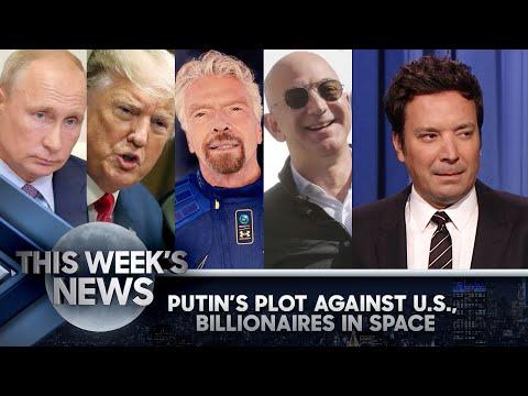 Putin's Plot Against U.S. Involving Trump, Billionaires Have a Space Race   The Tonight Show