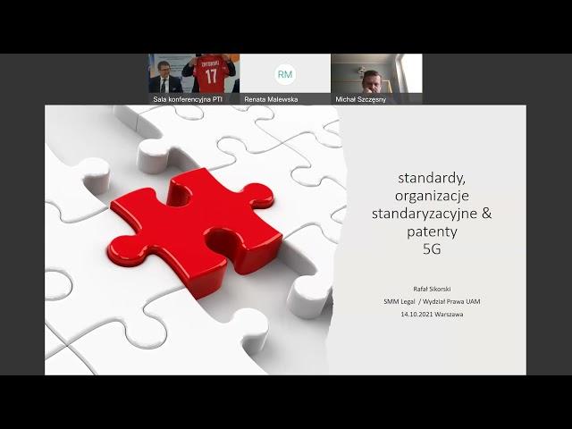 WEBINARIUM   SIECI 5G – STANDARDY I PATENTOWANIE A CYBERBEZPIECZEŃSTWO 2021.10.14