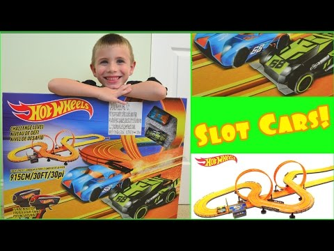 Hot Wheels Slot Car Race Track Set – Unboxing & Review Electric Race Track 2016 – Hot Wheels Mayhem!