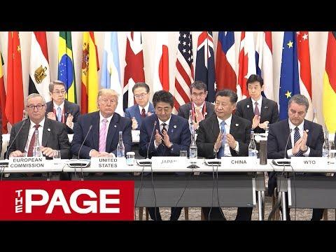G20大阪サミット開幕 安倍首相が「大阪トラック」開始宣言(2019年6月28日)