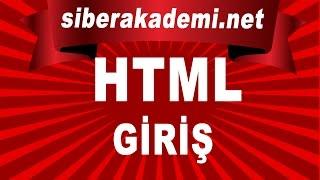 html giriş - html kodu - html kursu
