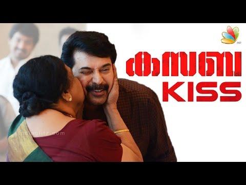 Mammootty gets unexpected kiss at Kasaba promotions | Nithin Renji Panicker