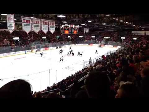 Right after 5th. UNB goal.