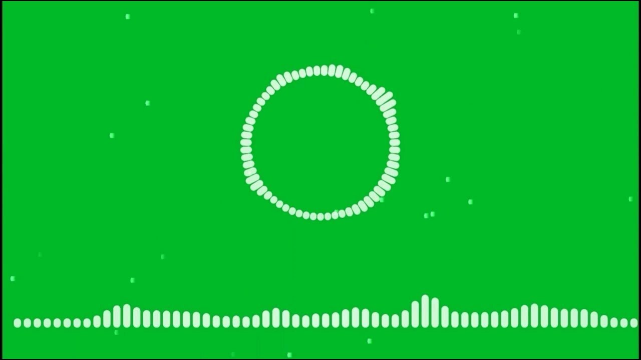Audio spectrum & Visualizer with green screen #Greenscreen Avee Player  Music Template