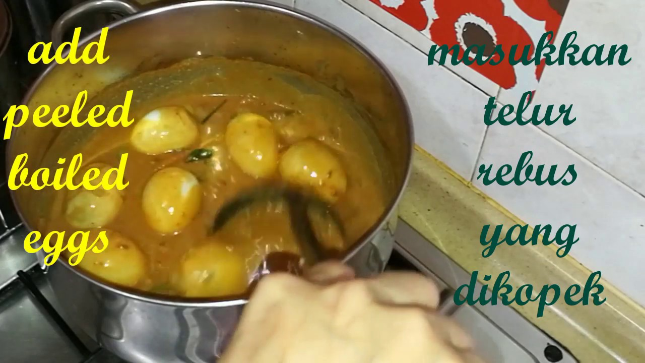 The Best Egg Curry Kari Telur Terliurby Linda Hussin