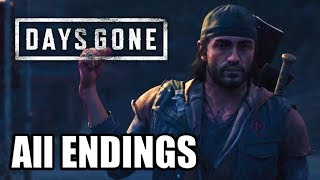 DAYS GONE All ENDINGS (Main Ending + All Secret Endings)