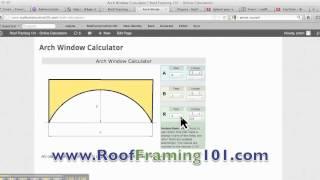 Arch Window Construction Calculator