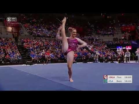 Maggie Nichols (Oklahoma) 2018 Floor vs Florida 9.975