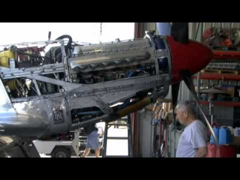 Reno Air Race Preparation -- A Merlin Engine Inspection