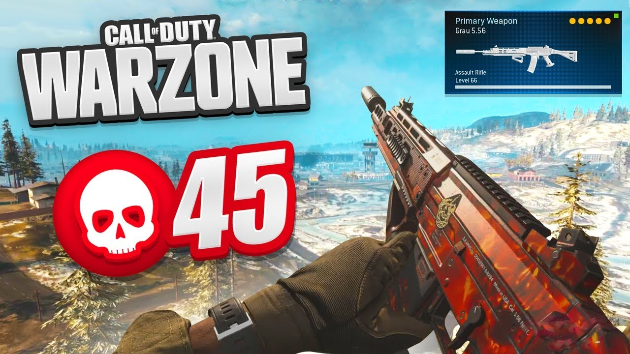 45 KILL GAME! - BEST CLASSES & GUNS in WARZONE (CoD Battle Royale)