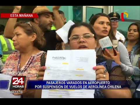 Pasajeros se encuentran varados en aeropuerto por suspensión de vuelos a Chile