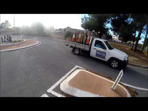 Road Safety Contractor on the mobile phone - A015ALM